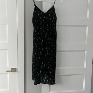 Gilli High-Low Black Midi Dress